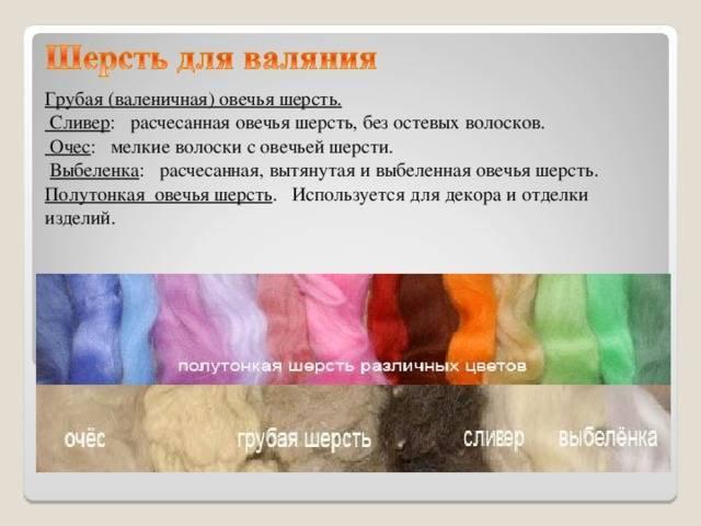 Разновидности шерсти и шерстяных тканей