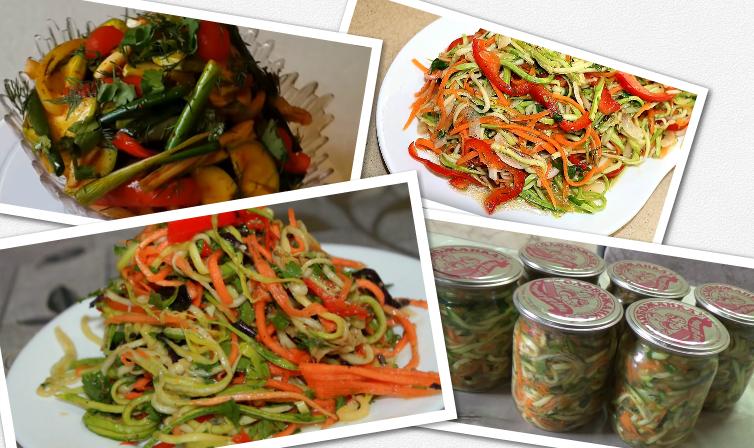 Кабачки по-корейски. самые вкусные рецепты быстрого приготовления