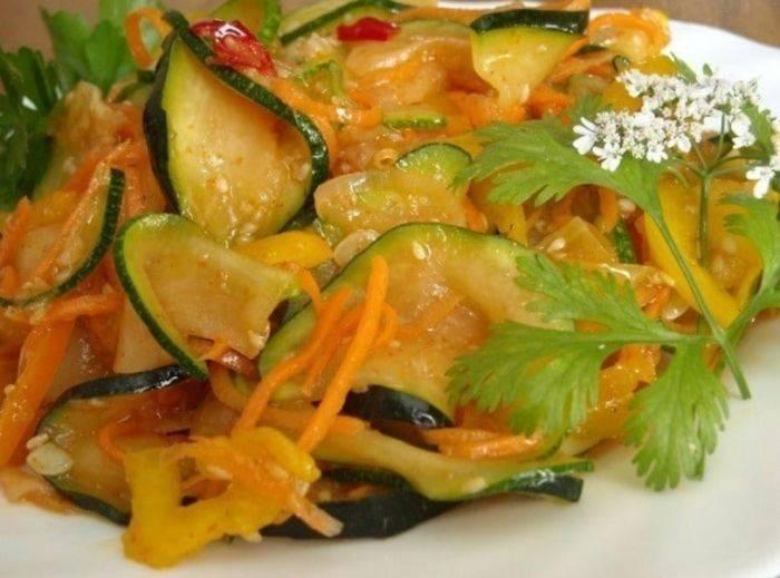 Самый вкусный рецепт быстрого приготовления кабачков по-корейски на зиму