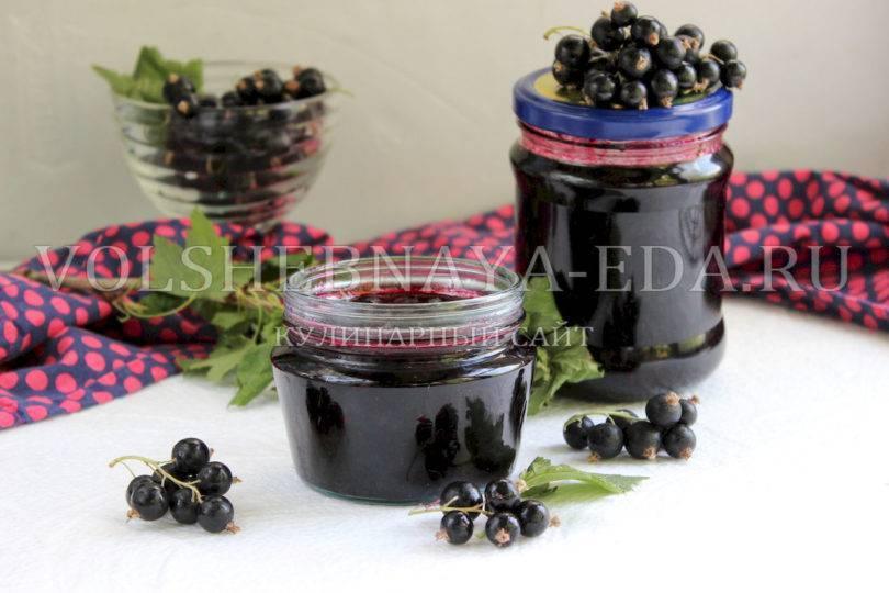 Разные способы приготовления желе из черных ягод смородины