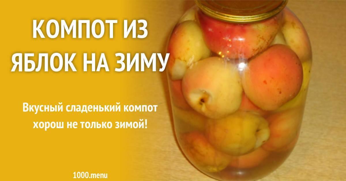 Компот из яблок на зиму — 10 рецептов с пошаговыми фото