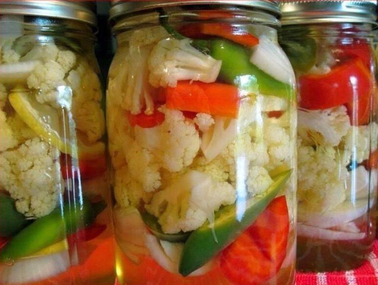 Заготовки маринованной цветной капусты на зиму, рецепты быстрого приготовления