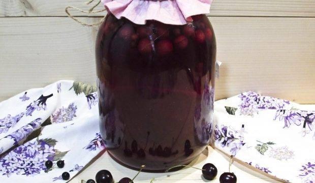 Компот из яблок и вишни на зиму: простой рецепт с фото и видео