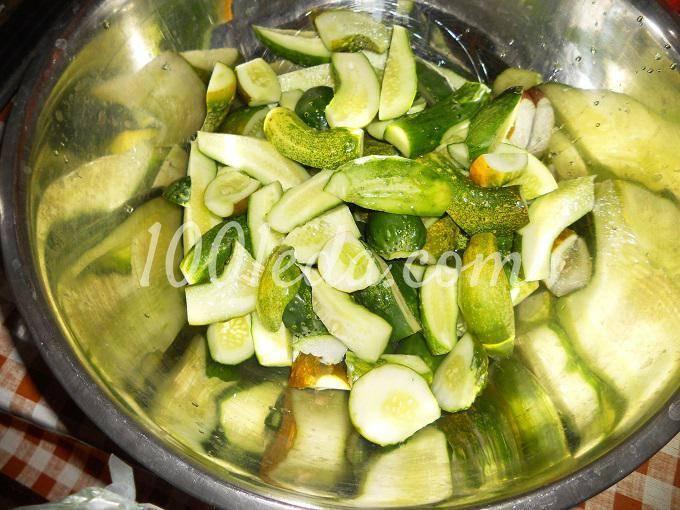Салат огурцы с луком на зиму