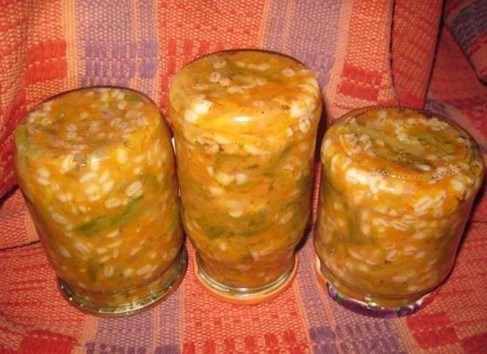 ТОП 12 рецептов заготовок на зиму с крупами, перловкой и овощами