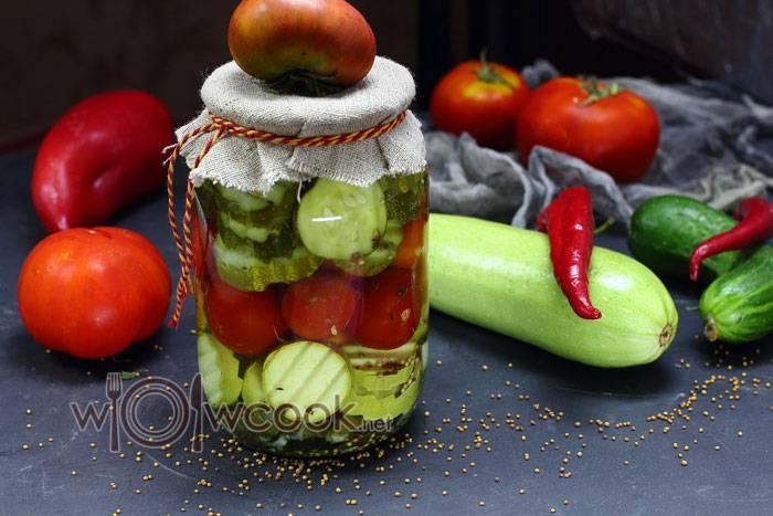 Ассорти на зиму — самый вкусный рецепт из овощей