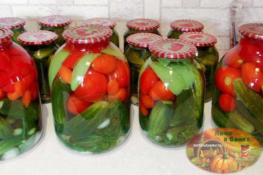 ТОП 3 рецепта ассорти из помидоров и огурцов с лимонной кислотой на зиму