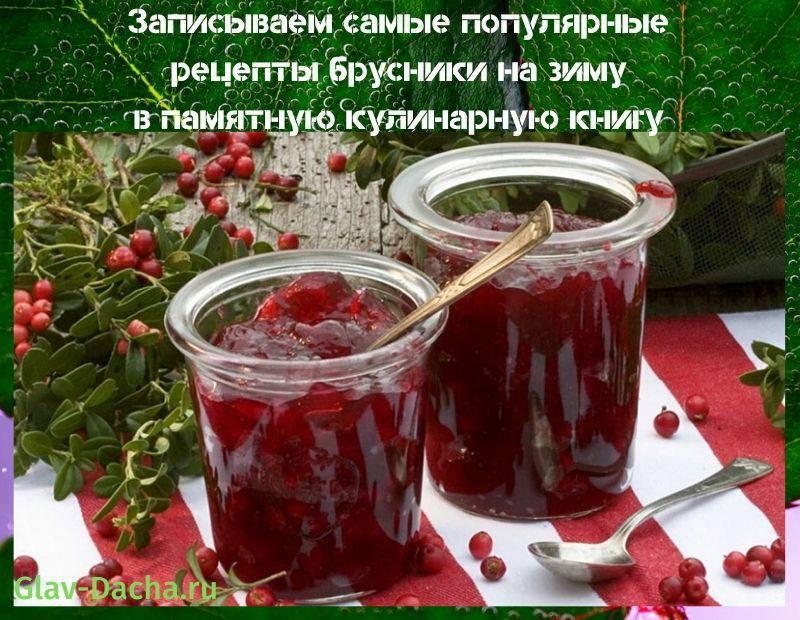 Брусника на зиму: лучшие рецепты с фото