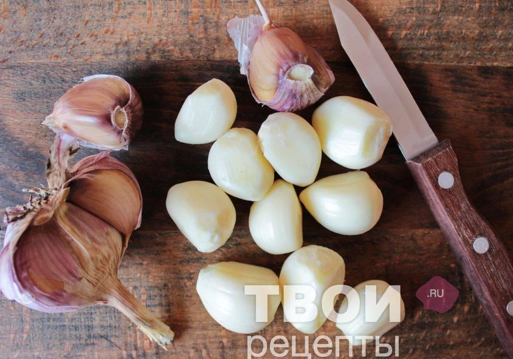 Как приготовить чеснок в масле на зиму — рецепт с фото