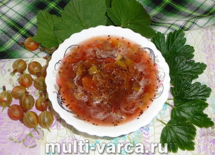 Варенье из малины и крыжовника рецепт на зиму