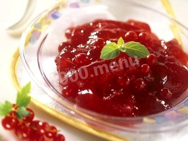 Варенье из смеси красной и черной смородины