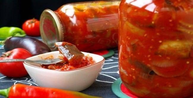Топ 10 лучших рецептов баклажан в томате на зиму, со стерилизацией и без