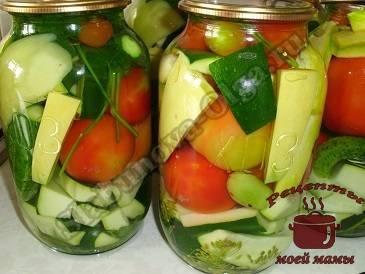 Топ 14 рецептов приготовления маринованного овощного ассорти на зиму