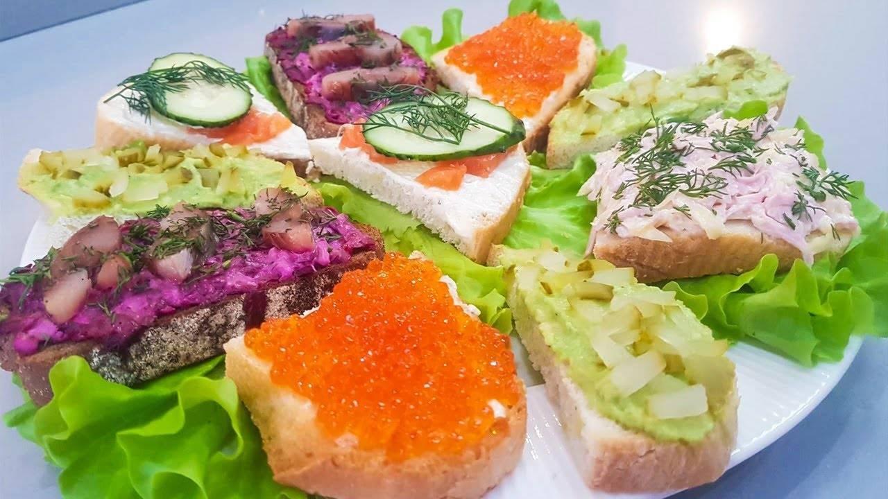 Праздничные бутерброды: вкусные рецепты с фото