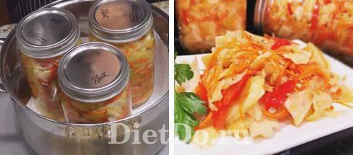 ТОП 10 рецептов консервированных помидор с капустой в банках на зиму