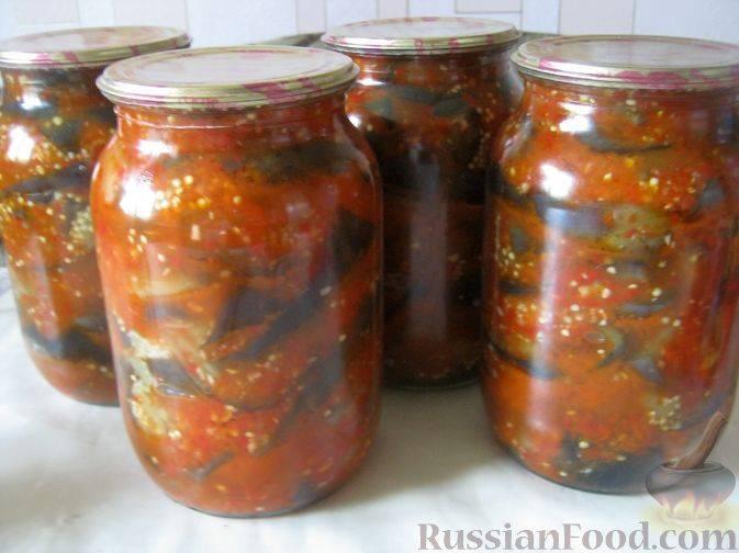 Рецепты приготовления баката из баклажан на зиму