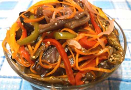 Баклажаны по-корейски быстрого приготовления: самый вкусный рецепт на зиму с фото