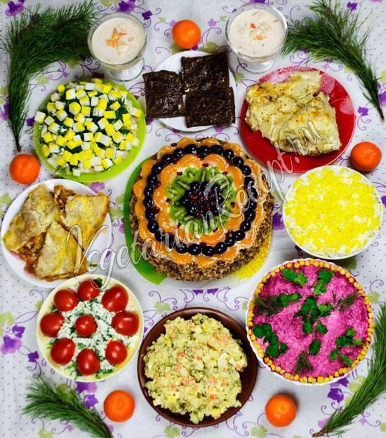 Простые и вкусные салаты на новый 2021 год — 15 рецептов с фото
