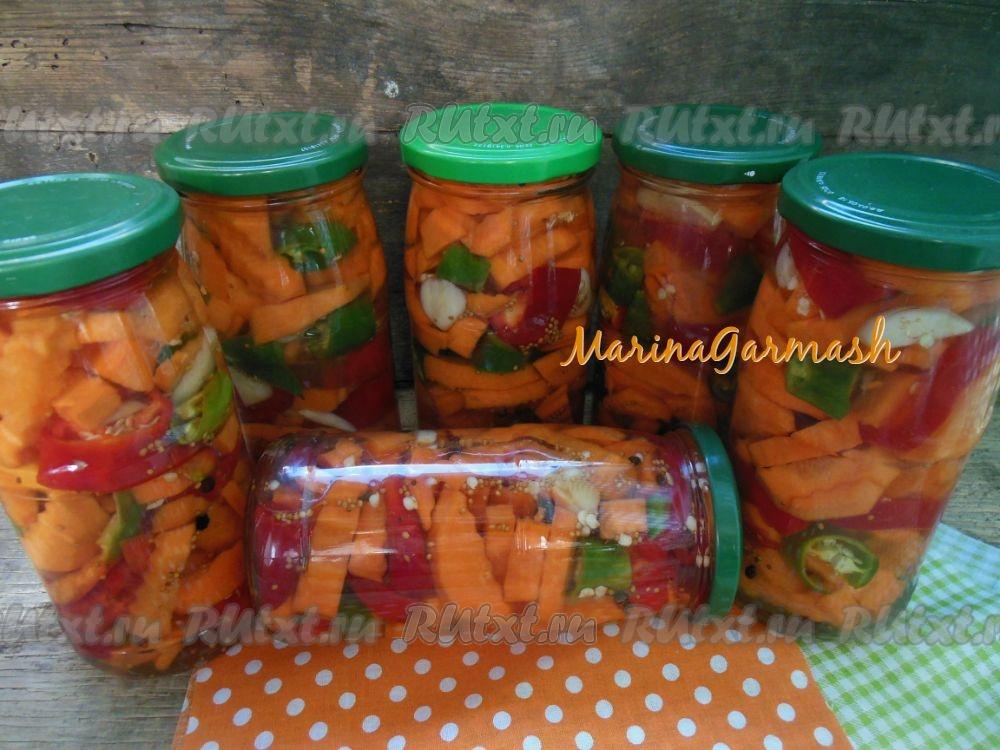 Кабачки с морковью маринованные на зиму
