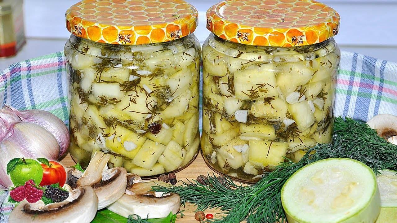 Маринованные огурцы с кабачками на зиму