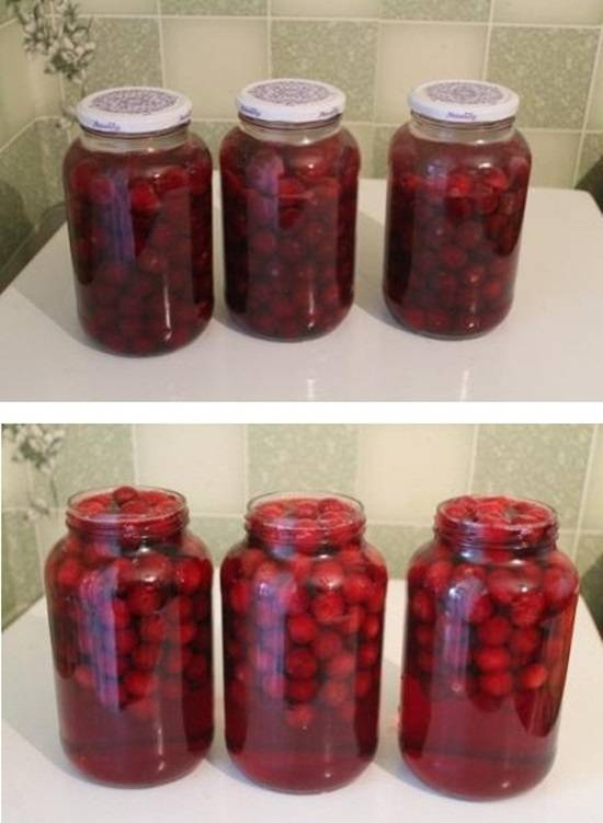 Компот из черешни за зиму, рецепты на 3-х литровую банку без стерилизации
