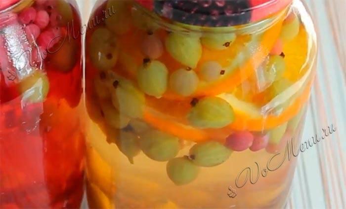 Компот из крыжовника и апельсинов на зиму: рецепты с фото и видео