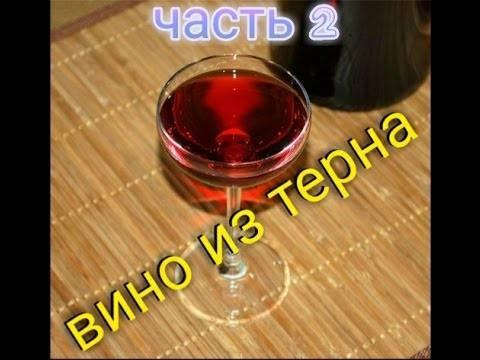 Домашнее вино из терносливы
