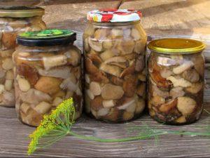 Консервированные жареные грибы