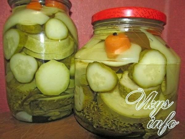 Огурцы с кабачками на зиму: 10 фото рецептов на любой вкус