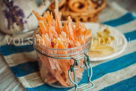 Как сделать цукаты из апельсиновых корок в домашних условиях?