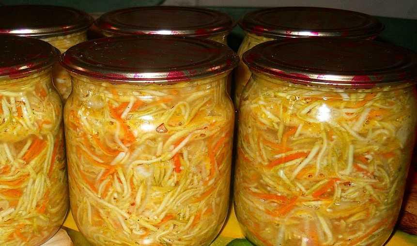 7 вкусных рецептов маринования кабачков с морковью на зиму