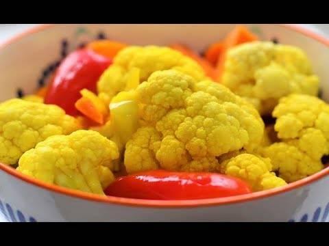 Маринованная цветная капуста на зиму — очень вкусная и хрустящая