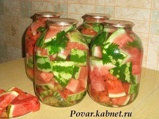 Вкусные рецепты маринованных арбузов без кожуры и с ней на зиму