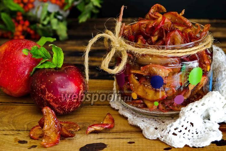 Сухое варенье из яблок в духовке — 4 рецепта