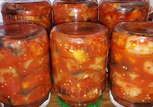 Салат «десятка» из баклажанов на зиму: три пошаговых рецепта со стерилизацией и без