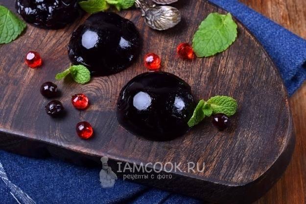 Желе из черники: рецепт и фото