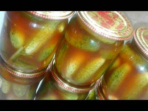 Маринованные огурчики с кетчупом на зиму – пикантная и остренькая закуска