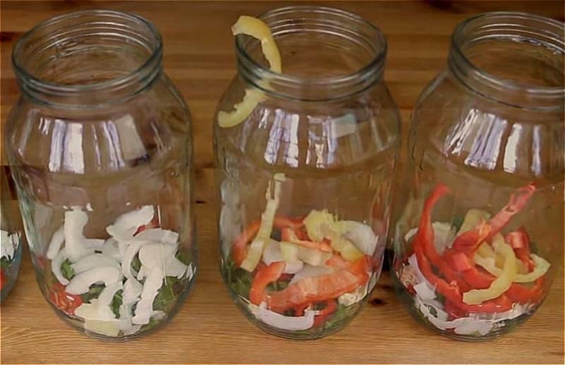 Малосольные овощи ассорти быстрого приготовления в пакете
