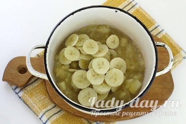 Топ 6 рецептов приготовления варенья из яблок и бананов на зиму