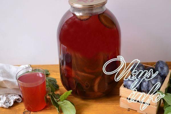 Компот из сливы на зиму: рецепты на 3 литровую банку