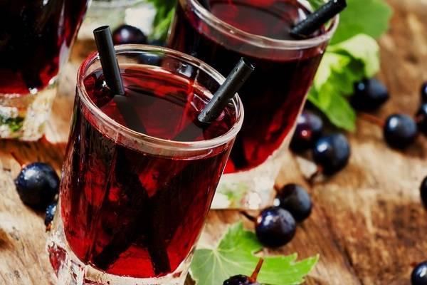 Простой рецепт компота из яблок и винограда на зиму
