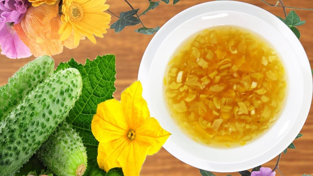 Рецепт приготовления варенья из огурцов с лимоном, апельсином и медом