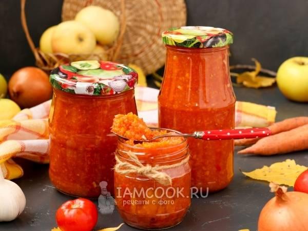 Острая аджика с яблоками на зиму — рецепты приготовления из помидор и перца с варкой
