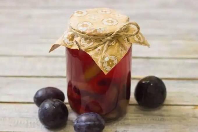 Компот из сливы на зиму – лучшие сочетания фруктов и ягод