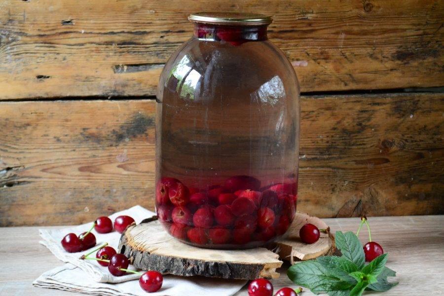 Как приготовить компот из вишни на зиму