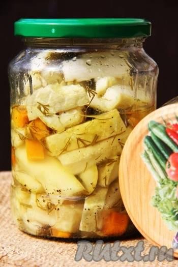 Грибная закуска из кабачков на зиму: рецепты к постному столу