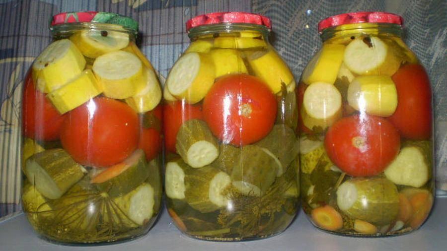 Рецепты заготовки маринованных кабачков с помидорами на зиму