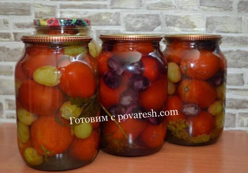 Как посолить помидоры виноградный сорт. вкусные рецепты консервирования помидоров с виноградом на зиму