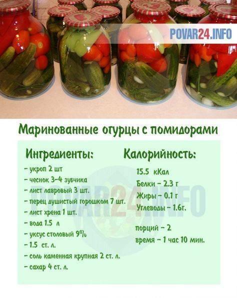 Ассорти из помидор и огурцов