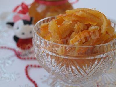 Быстрый рецепт приготовления цукатов из апельсиновых корок